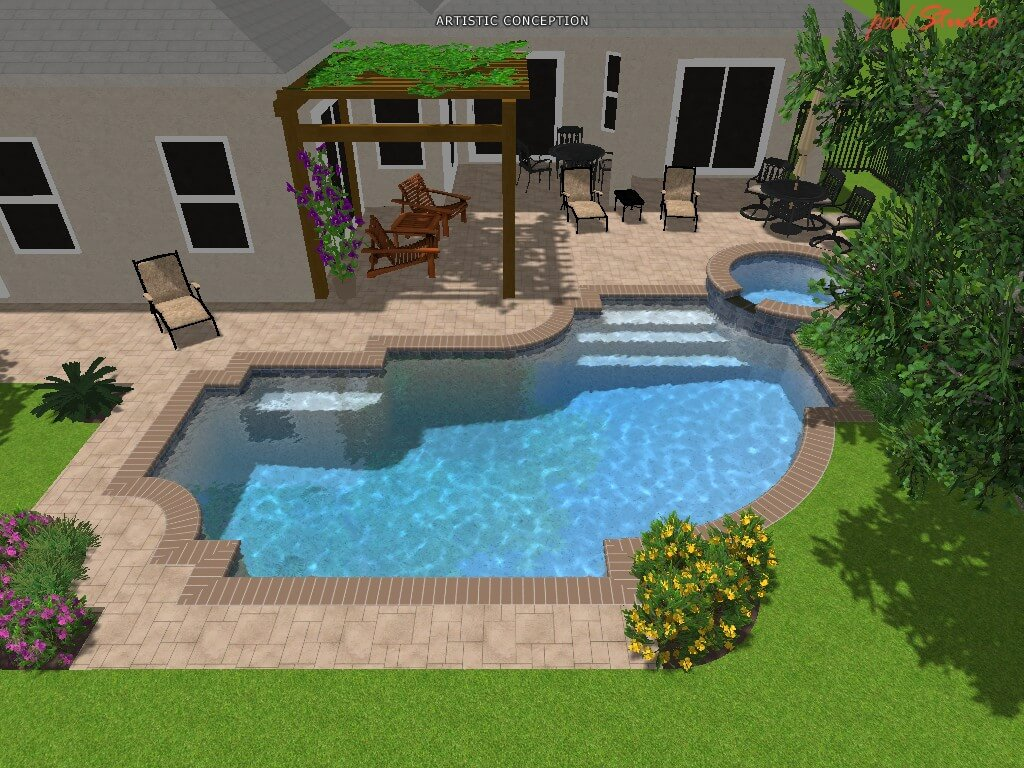 3d pool design orlando custom pools lake nona clermont for Pool design 3d