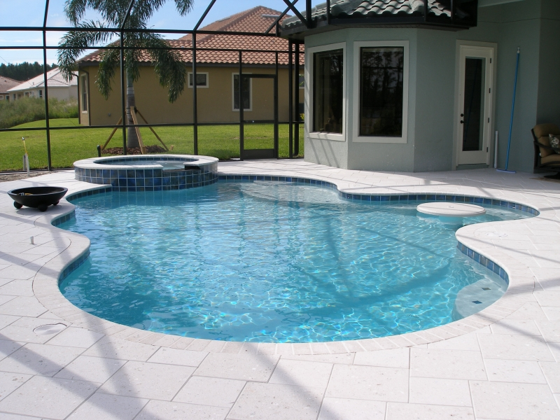 Orlando Pools By Design swimming pool designs and cost 1000 ideas about fiberglass inground pools on pinterest best set Freeform_pool_raised_spa_sun_shelftable_top_with_umbrella_holder_and_artistic_paver_decking